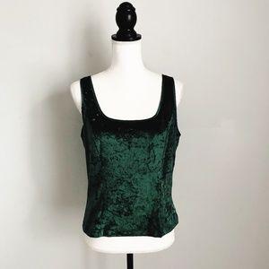 Victoria's Secret Green Crushed Velvet Top